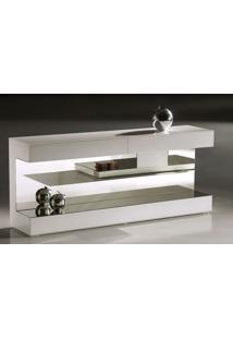 Aparador Apple Laca Branco Brilhante Com Espelho - 22395 Sun House