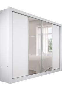 Guarda-Roupa Casal Com Espelho Madesa Esplendor 4Pt Branco