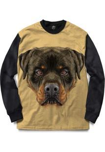Blusa Bsc Rottweiler Dog Full Print - Masculino
