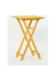 Mesa Alta Bistro Amarelo 100Cm - 61625 Amarelo