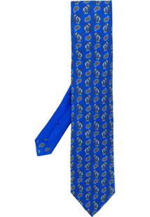 Etro Gravata Estampada - Azul