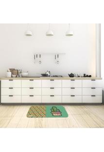 Tapete De Cozinha Mdecore Cactos Verde 40X60Cm