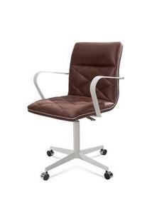 Cadeira Office Mark Marrom Base Aco Fendi 87Cm - 61283 Marrom
