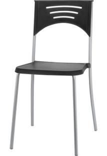 Cadeira Bliss Assento Preto Base Cinza - 53716 - Sun House