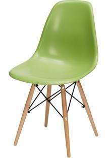 Cadeira Eames Polipropileno Verde Base Madeira - 15205 - Sun House