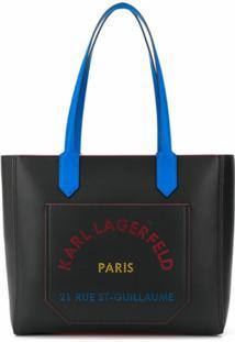 Karl Lagerfeld Bolsa Tote K/Journey Com Estampa De Logo - Preto