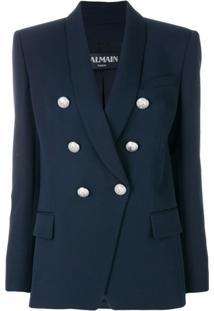 Balmain Blazer Com Detalhe Nos Botões - Azul