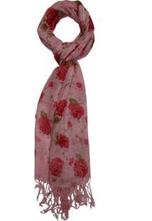 Echarpe Zohar Acessórios Rosas Rosa