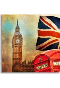 Placa Decorativa London 25X25 Cm Preto