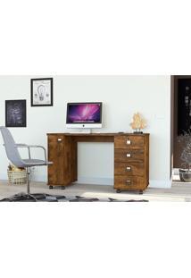 Mesa Computador Office Smart Canela - Lukaliam