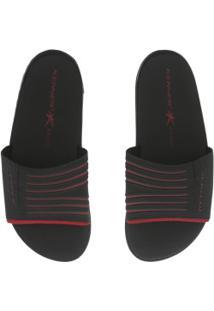 Chinelo Kenner Rhaco Sport - Slide - Masculino - Preto/Vermelho