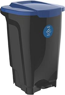 Lixeira Em Plastico T-Force Preto E Azul 100 Litros Tramontina 92814/709