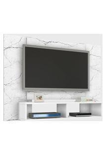 Painel Navi P/ Tvs Até 42 Polegadas Carrara/Branco Móveis Bechara