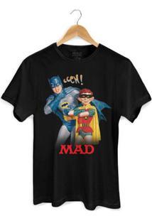 Camiseta Bandupbatman E Mad - Masculino-Preto