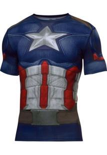 Camiseta Under Armour Capitão America Suit - Masculino