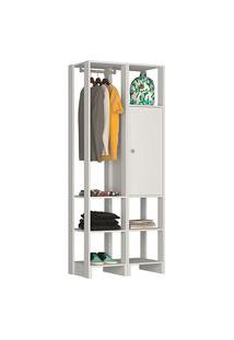 Guarda Roupa Closet Nova Mobile Ey105-107 Yes 1 Porta 6 Nichos