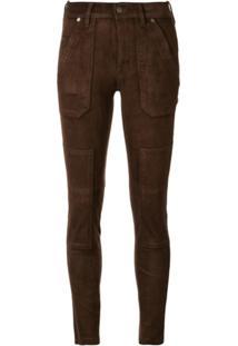 Polo Ralph Lauren Calça Skinny Com Patch - Marrom
