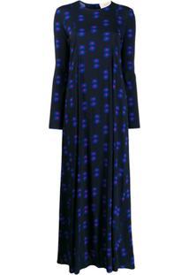 La Doublej Vestido Trapezio Azul