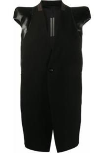 Rick Owens Jaqueta Mangas Curtas Com Ombros Estruturados - Preto