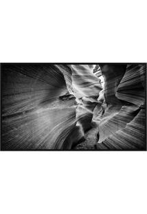 Quadro Decorativo Grand Canyon- Preto & Branco- 80X6Arte Prã³Pria