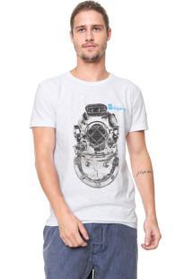 Camiseta Osklen Estampada Branca