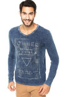 Camiseta Sommer Mini Living Azul