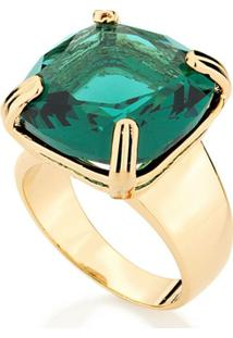 Anel Com Pedra Rommanel - Feminino-Verde