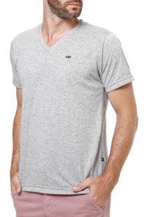 Camiseta Manga Curta Masculina Manobra Radical Cinza