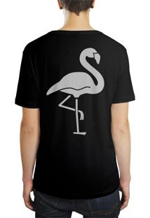 Camiseta Hunter Flamingo Preta
