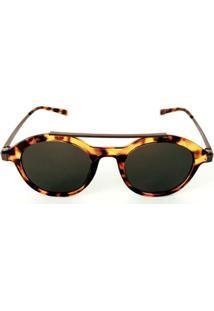 Óculos De Sol Redondo Tartaruga Cayo Blanco Feminino - Feminino-Amarelo