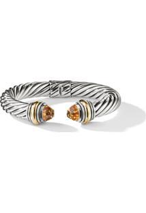David Yurman Bracelete 10Mm 'Cable' Em Ouro 14Kt Detalhado E Citrino - S4Aci