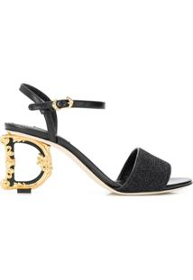 Dolce & Gabbana Sandália G Heel - Preto