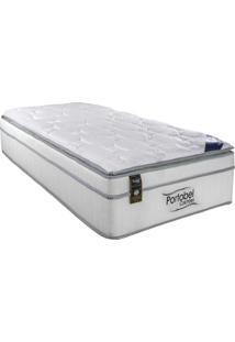 Colchão Mola Pocket Solteiro 1,88X0,88X0,38M Ecstasy Pillow Top Branco Portobel Colchões