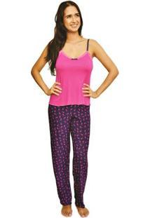 Pijama Nalu Rio Cats - Feminino-Rosa