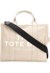Marc Jacobs Slogan Top-Handle Tote - Neutro