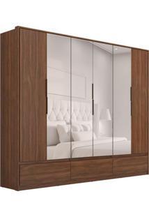 Guarda-Roupa Casal Com Espelho Moara Ii 6 Pt 7 Gv Âmbar