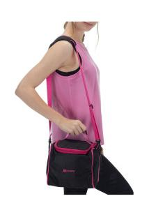 Bolsa Térmica Oxer Lunch Bag Basic - Preto/Rosa