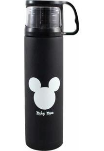 Garrafa Térmica Com Xícara 500 Ml Mickey Logo