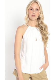 Blusa Texturizada Com Vazado- Off White- Colccicolcci