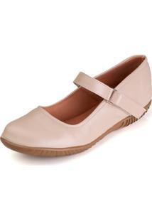 Sapato Sapatilha Boneca Fechado Confort - Rosa - Feminino - Dafiti