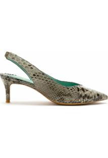 Blue Bird Shoes Scarpin Slingback Python - Neutro