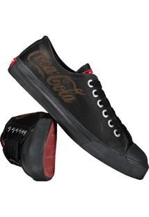 Tênis Coca-Cola Basket Couro Low - Unissex