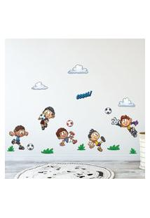 Adesivo De Parede Infantil Futebol Kids 17Un