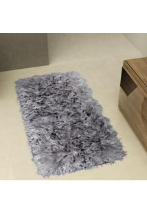 Tapete De Sala Shaggy Tufting Joy 50X100 Cm Quartzo