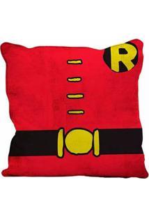 Capa Para Almofada - Dc Comics - Robin - Body Customs - Vermelho - 45X45 - Metrópole