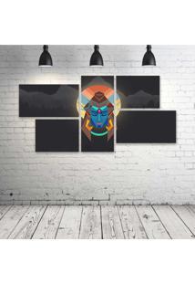 Quadro Decorativo - Lord-Shiva-Minimal-Oc - Composto De 5 Quadros - Multicolorido - Dafiti