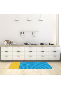 Tapete De Cozinha Mdecore Abstrato Azul 40X120Cm