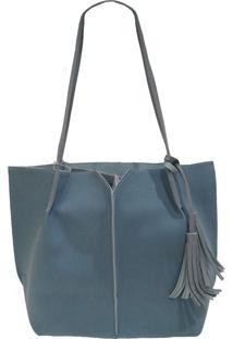 Bolsa Real Arte Saco E Detalhe Franja Azul