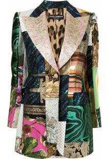 Dolce & Gabbana Blazer Abotoamento Simples Com Patchwork - Colorido