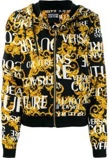 Versace Jeans Couture Jaqueta Bomber Com Estampa De Logo - Preto